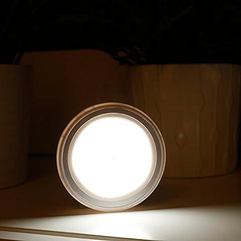 Liqoo® LED Luz de Noche Infantil con Sensor de Movimiento Adhesiva Inalámbrica Lámpara de Pared Blanco fío 3 Pilas AAA Seguro para Niños, Gabinete, Cajón, Escaleras, Balcón