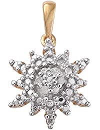 TJC Women 14ct Gold Plated 925 Sterling Silver Brazilian Andalusite Cluster Pendant