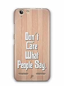 YuBingo Don't Care What People Say Designer Mobile Case Back Cover for Lenovo Vibe K5 Plus