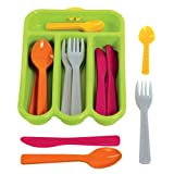 Gowi Toys Cutlery Set (Green) - Set of 4