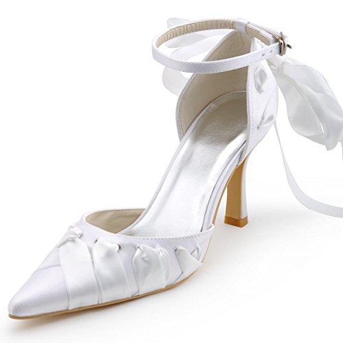XINJING-S Bowknot High Heels Schuhe Party Hochzeit Frauen Pumps Heels OL Kleidung Schuhe Sandalen Lila