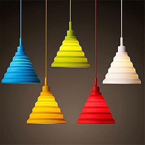 Feux Led colorés pendentif E27 lamparas colgantes poignée,Black