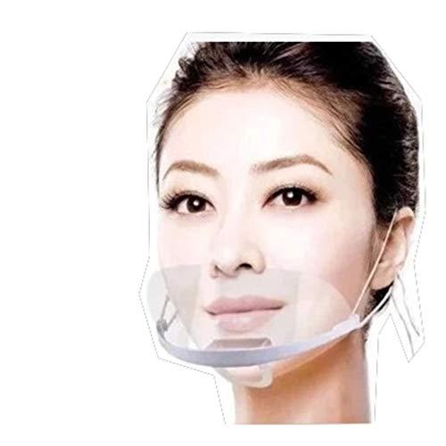KOOMZK Kunststoff-Maske für Hotel-Chefkoch, transparent, Catering, spezielles Fliegenschalldämpfer, Kellnerverwendung, Anti-Beschlag, kann Lächeln sehen, Plastik, Einheitsgröße