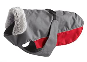 Hunter 47498 Manteau pour chien Bergen taille 70 Gris/rouge