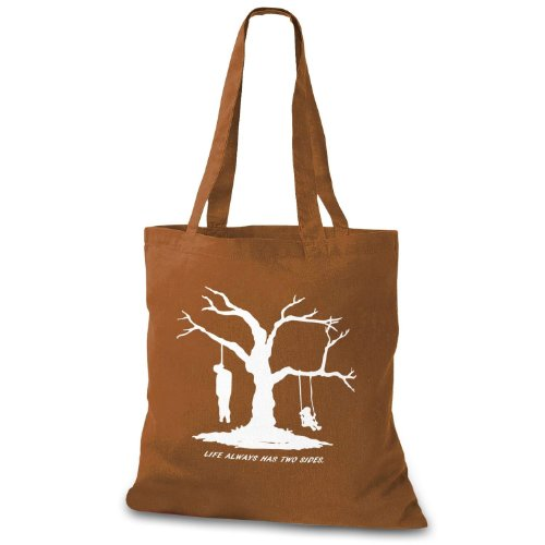 StyloBag Jutebeutel Life has always two sides Stofftasche Choco