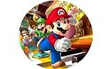 9 Stück Muffinaufleger Muffinfoto Aufleger Foto Bild Nintendo Super Mario 7 rund ca. 6 cm *NEU*OVP*