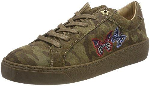 Tommy Hilfiger Damen Lo S1285UZIE 12Z Sneaker, Grün (Camo), 40 EU (Camo Tommy)