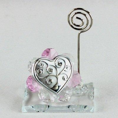 Dlm26053-rosa portafoto memo clip in cristallo albero della vita_rosa bomboniera