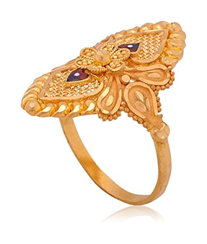 Senco Gold Aura Collection 22k Yellow Gold Ring Best Deals