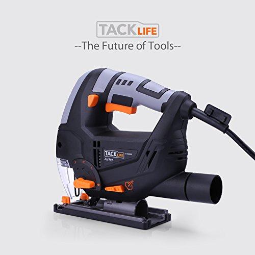 Stichsäge, Tacklife PJS02A Stichsäge mit Laser und Led-Lampe 800W,3000rpm, 100mm Schnitttiefen in Holz und 10mm in Metall, 22mm Hublänge,inkl.6 Sägeblatter - 9
