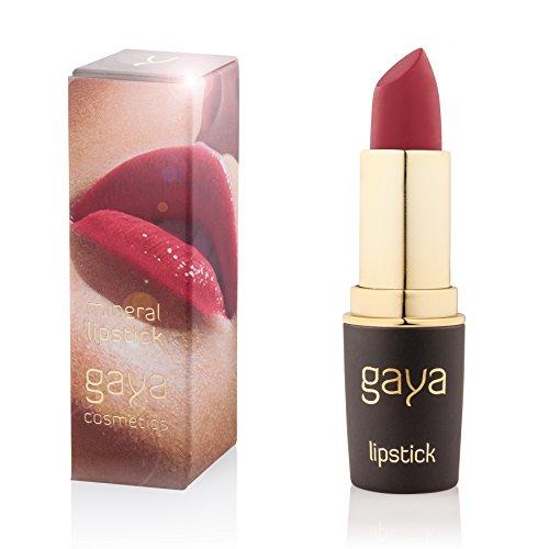 Gaya Cosmetics Mineral Lippenstift - Feuchtigkeitsspendende Formel für Atemberaubend Gesunde, Weiche und Volle Lippen (511 Shade)
