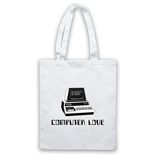 Inspiriert durch Kraftwerk Computer Love Inoffiziell Umhangetaschen Weis