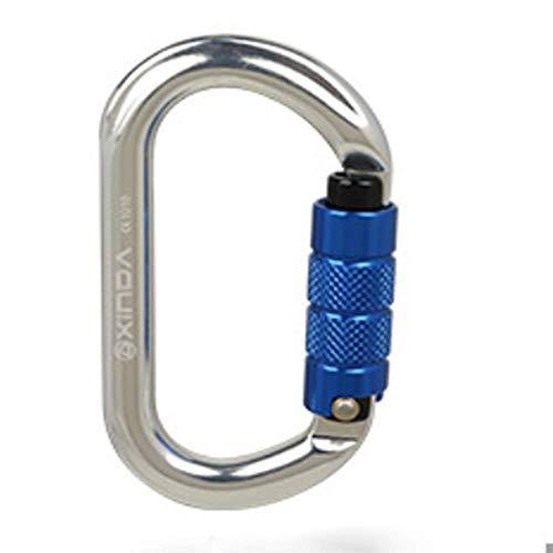 LLXYM O-Typ Automatische Sperre Outdoor-Klettern Hauptschloss Sicherheit Master Lock Karabiner Schnell Hängende Sperre Ausrüstung,1,11.2Cm*6.1Cm (Master Outdoor-sperren)