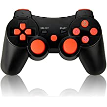 Vniqloo Controller Joystick Wireless Bluetooth per PS3 Giochi, Doppia Vibrazione Sixaxis Joypad Gamepad per Sony PS3 PlayStation 3