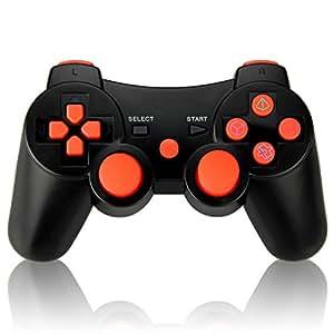 Vniqloo Controller Joystick Wireless Bluetooth per PS3 Giochi, Doppia Vibrazione Sixaxis Joypad Gamepad per Sony PS3 PlayStation 3