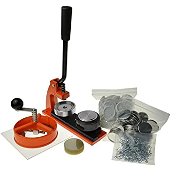 Enterprise Products - Micro Buttonmaschine mit 250 Zubehörteilen & Kreissschneider - austauschbarer Stempel in Größe 25mm