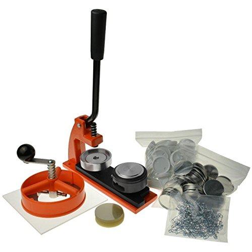Enterprise Products - Micro Buttonmaschine mit 250 Zubehörteilen & Kreissschneider - austauschbarer Stempel in Größe 58mm