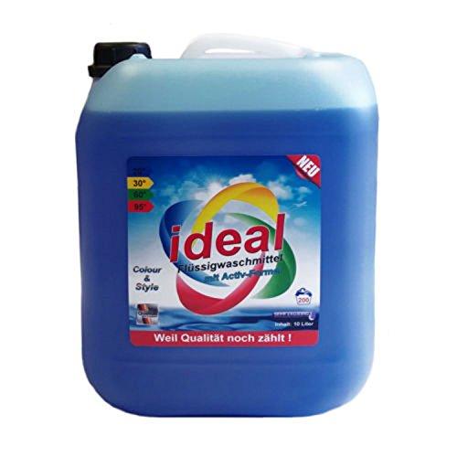 10 Liter ideal Flüssigwaschmittel Konzentrat mit Aktiv-Formel Waschmittel Gel -