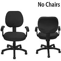 Fundas individuales para sillas BTSKY, modernas, estilo simplista y moderno, elásticas, extraíbles y resistentes para sillas de oficina giratorias, sillas giratorias, silla para ordenador y sillas con apoyabrazos (no incluye sillas)