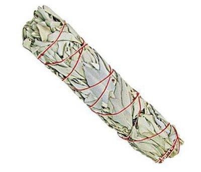 Räucherwerk:1x Großer weißer Salbei-Stab -- ca. 75-85 Gramm von Native-Spirit.eu -- Smudge Stick XXL, white sage (1) (Weißer Salbei-stab)