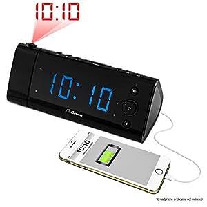electrohome usb ladekabel alarm uhr radio mit der zeit. Black Bedroom Furniture Sets. Home Design Ideas