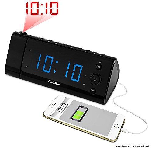 electrohome-usb-charging-alarm-clock-radio-with-time-projection-fm-radio-battery-backup-dual-alarm-1