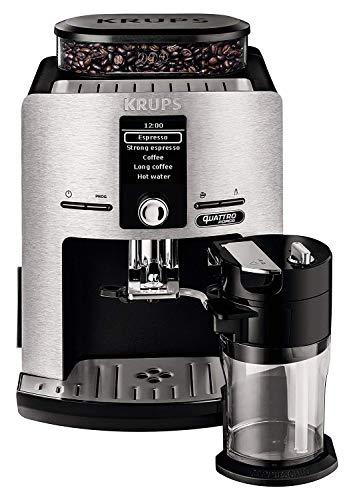 Krups ea82fd Espresso Machine 1.7L 12TASSES aluminium, Cafetière (autonome, entièrement automatique, Espresso Machine, grains de café, cappuccino, Lait Chaud, noir) (Certifié Reconditionné)