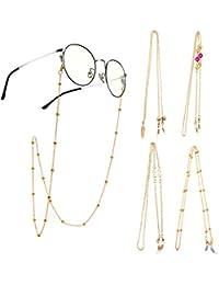 Hifot Cordon Gafas 4 Piezas, cordón Gafas de Sol, Universal Fit Cuerda retención Cadena Gafas