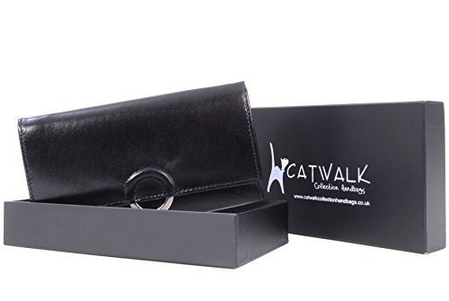 """Borsellino in pelle Catwalk Collection - """"Odette"""" - scatola regalo Nero"""