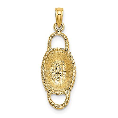Lex & Lu - Abalorio cesta ovalada oro amarillo 14