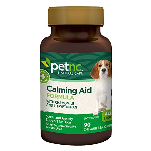 PetNC Natural Care Calming Aid Chewables for Dogs, 90 Count by PetNC Natural Care -