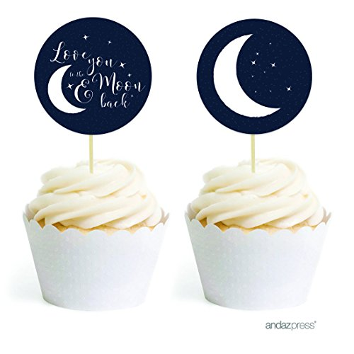 Andaz Drücken Cosmic Love You To The Moon And Back Hochzeit Party Kollektion Favors Kit Cupcake Topper