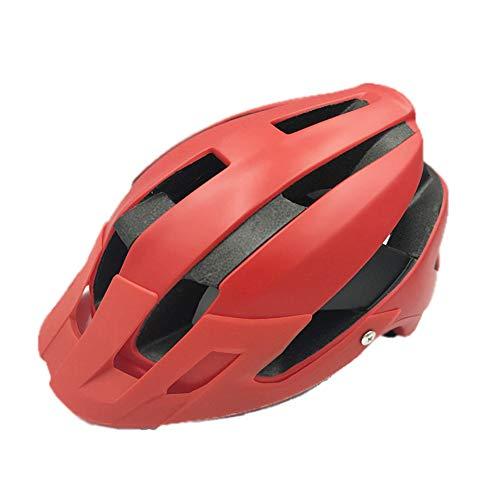 Radfahren Ultraleicht Helm Herren Rennrad Mountainbike Helme MTB Triathlon Fahrrad Fahrrad Aero Sicherheitskappe 55 60 cm, Rot