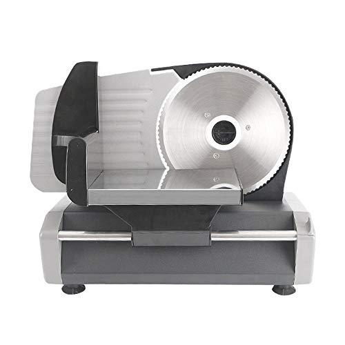 Gaone Elektrische Allesschneider, Premium-180W Brotschneidemaschine Elektrisch Aufschnittmaschinen Fleisch Schneidemaschine Meat Slicer Käseschneider Einstellbare Dicke,220V