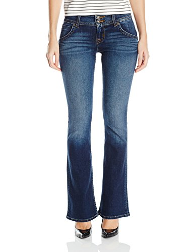 Hudson Jeans Women's Petite Size Signature Bootcut Flap Pocket Jean, Patrol Unit 2, 32 (Pocket Flap Hudson)
