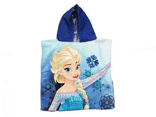 apuzen-Poncho | 50 x 100 cm | Disney Eiskönigin | Frozen | Badeponcho, Farbe:Blau ()