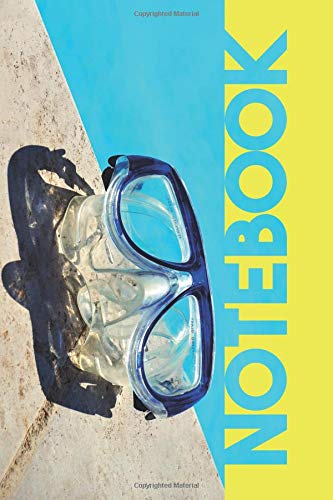 Notebook: Scuba Mask Colorful Composition Book for Notes on snorkeling near me por Molly Elodie Rose