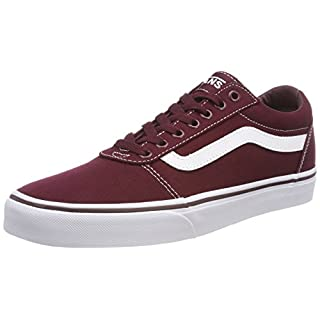 Vans Herren Ward Canvas Sneaker, Rot Port Royale/White 8J7, 44 EU