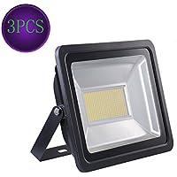 3X 200W blanco cálido impermeable IP65 SMD reflector de seguridad brillante de la lámpara de luz LED de luz de inundación al aire libre y cubierta 220V