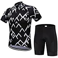 XDXDWEWERT Pantalones de Ciclismo Pantalones de Montar en BIC para Hombre Deportes al Aire Libre Mountain Bike Manga Corta Ciclismo Jersey Ropa M (Color : Short Sleeve, tamaño : XL)