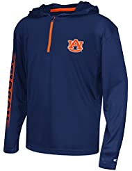 "Auburn Tigers Youth NCAA ""Sleet"" 1/4 Zip Pullover Hooded WindShirt Chemise"