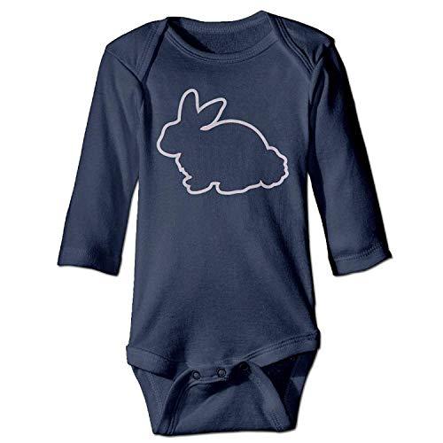 Bodysuits Bunny Toddler Boys Babysuit Long Sleeve Jumpsuit Sunsuit Outfit Navy ()