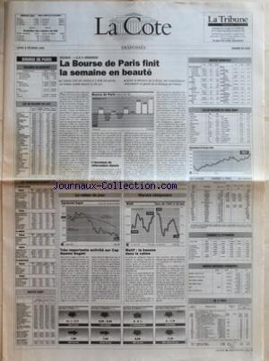 COTE (LA) du 08/02/1993 - BOURSE DE PARI...