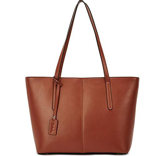 BOSTANTEN Damen Leder Schultertaschen groß Handtasche Frauen Designer Umhängetasche Tote Bag Braun