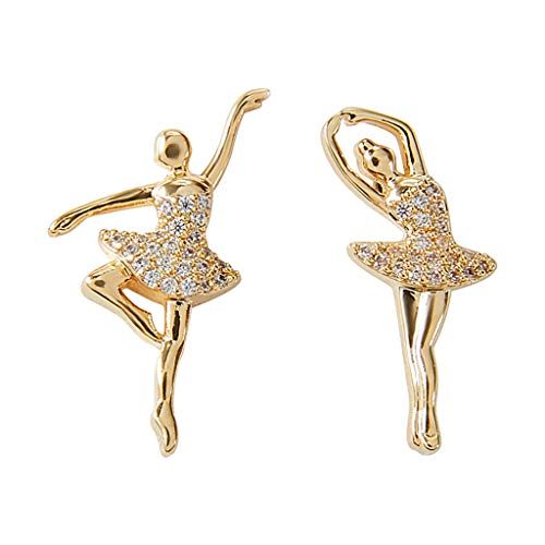 Lan chen ballerino temperamento personalità semplici orecchini femminile corea insetti selvatici orecchini corti piccoli orecchini freschi oro