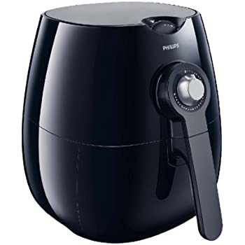 Philips HD9220/20 Airfryer with Rapid Air Technology for Healthy Cooking, Baking and Grilling, Plastic 1425 W, Black