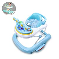 BBYYOP Applicable To 6-18 Months Collapsible Baby Walker, Upgraded Version Can Be Turned into Children
