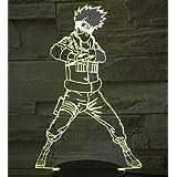 Naruto Goku 3D-lampa, nattlampa, 7 färgbyten, LED skrivbordslampa, pek, flerfärgad, USB-kraft som heminredningslampor, för po