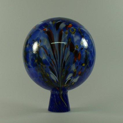 hellblau Set aus Glas ø 12 +15 18 cm.hellgrün violette. Rosenkugel 3 er
