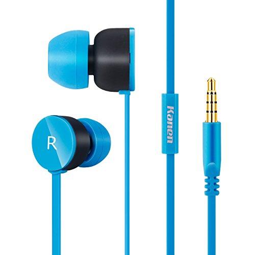 Rockpapa 205B auricolari con isolamento acustico, auricolari in-ear, cuffie, per iPhone, iPad, iPod, Samsung Galaxy, lettori MP3 , Nokia, HTC, Nexus, Blackberry Nero Blue
